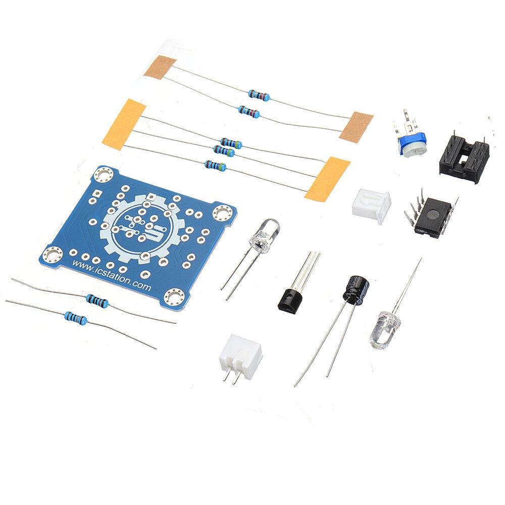 1LM358 Breathing Light Parts LED Flash Light Electronic DIY Production Kit, Banggood  - buy with discount