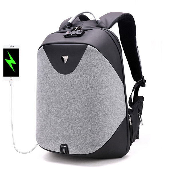 02469354325e Anti Theft Customs Lock Laptop Backpack Bag Travel Bag With USB Charging  Port