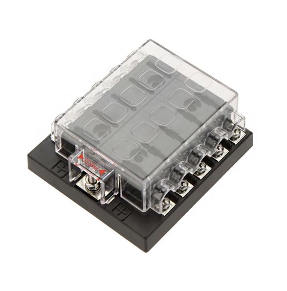 10 Way Fuse Box Block Fuse Holder Box Car Vehicle Circuit