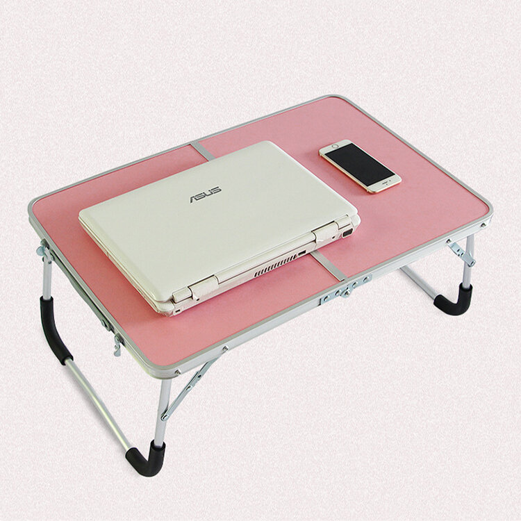 Double Folding Laptop Desk Computer Table Portable Foldable Outdoor Picnic Table Desk PC Laptop Table Writing Workstation Home Office Furniture