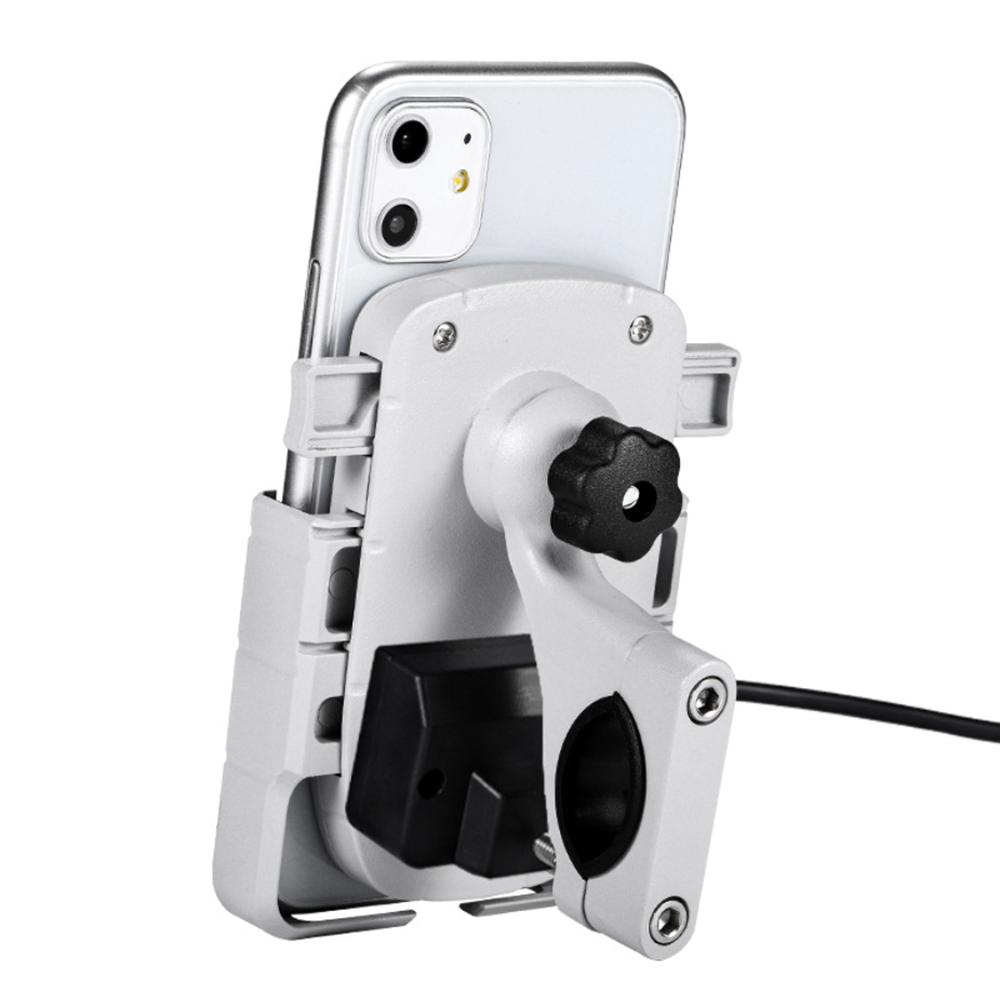 Suporte de navegação para celular 12V-80V Suporte de carregador USB Liga de alumínio à prova dágua Scooter elétrico