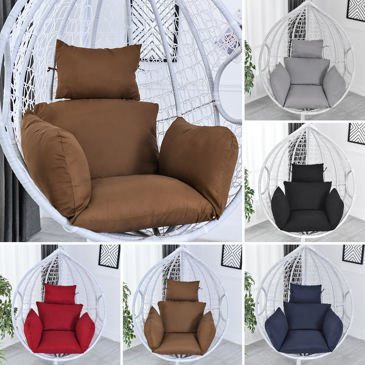 Hanging Egg Hammock Cradle Chair Cushion Swing Seat Thick Nest Hanging Chair Cushion With Pillow Sale Banggood Com