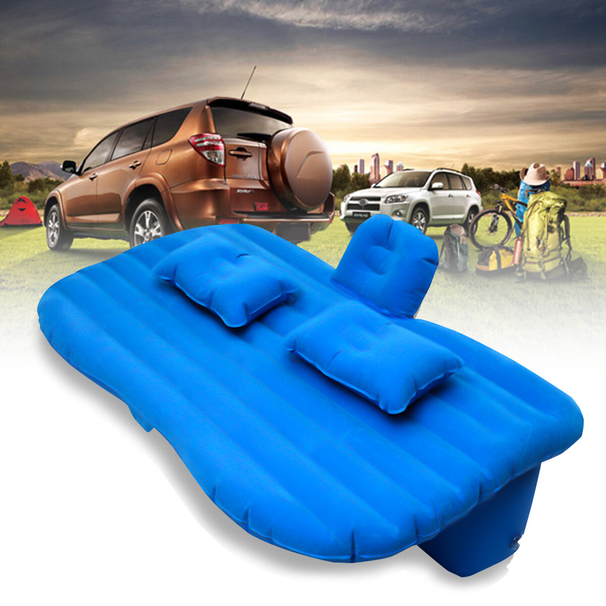 PVC Trunk Car Inflatable Mattress Outdoor Travel Sleeping Bed Lazy Sofa Air Bed for SUV фото