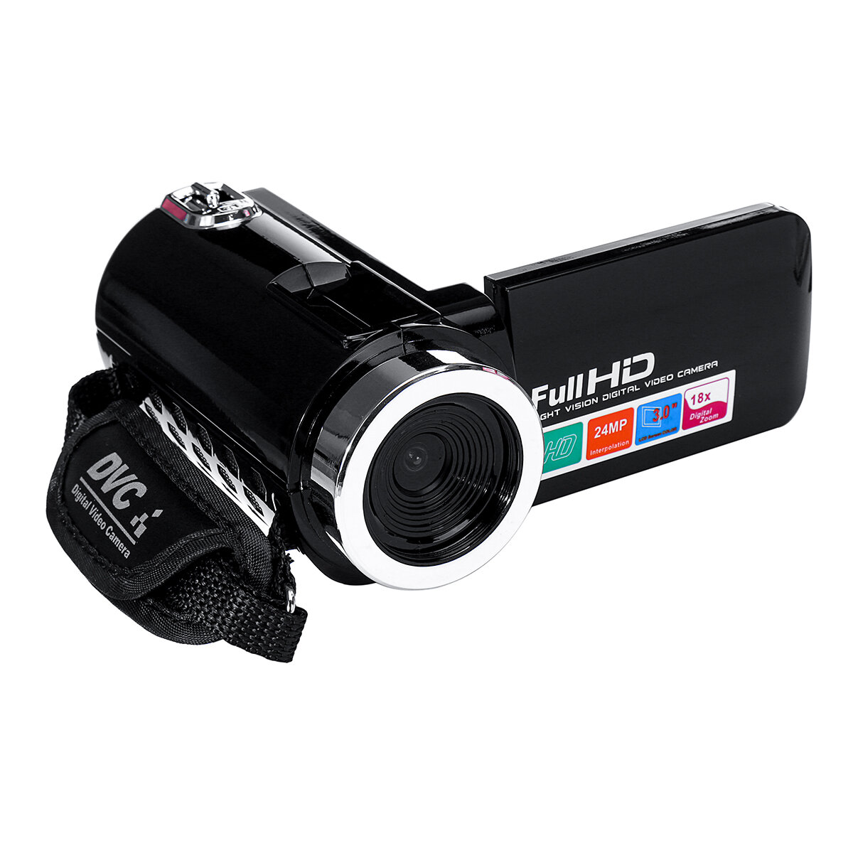 4K Full HD 1080P 24MP 18X Zoom 3 Inch LCD Digital Camcorder Video DV Camera 5.0MP CMOS Sensor for YouTube Vlogging, Banggood  - buy with discount