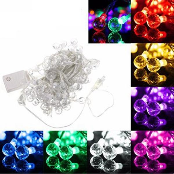 10M 100LED Crystal Balls Fairy String Light Party Xmas Decoration Christmas 110V