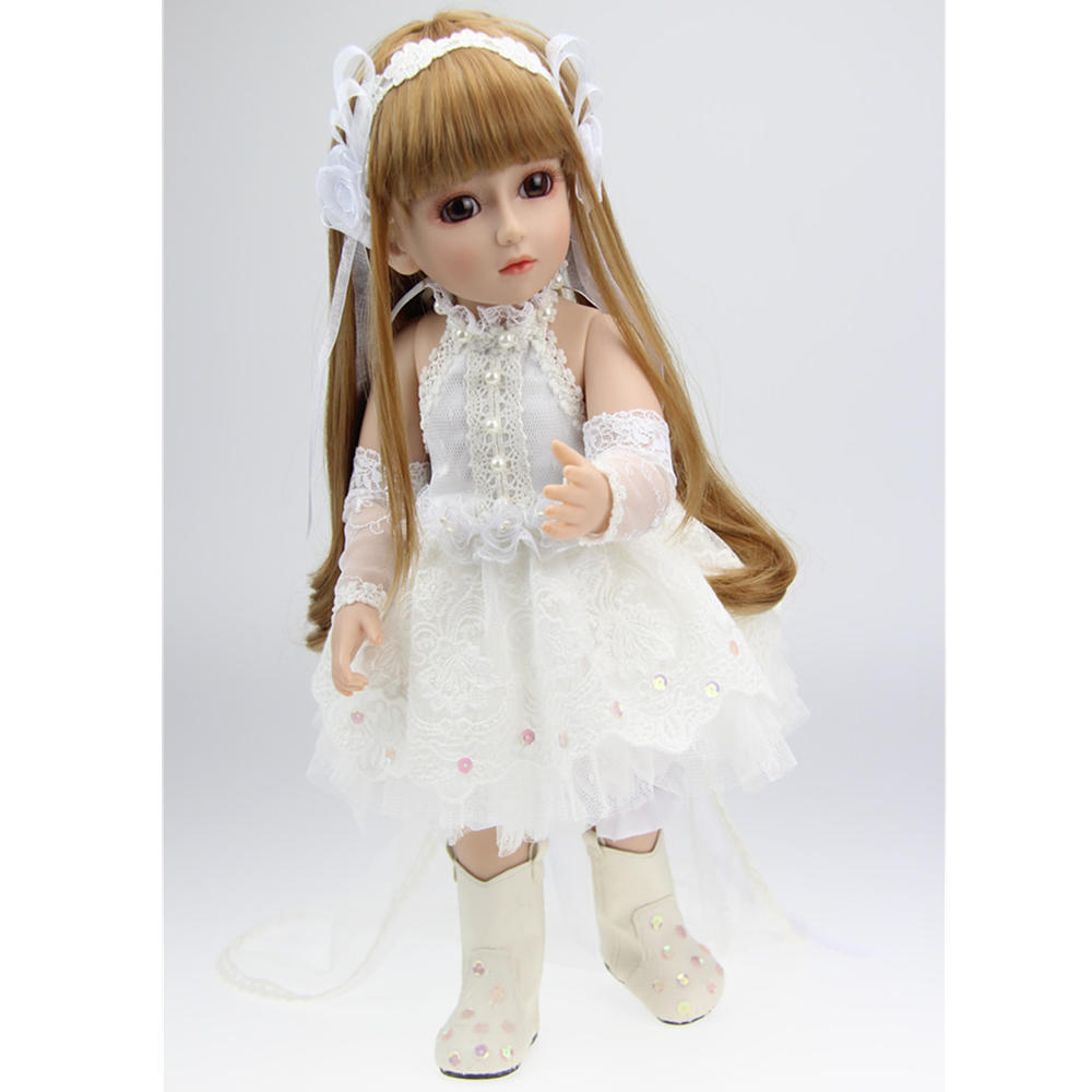 2621f9703b1 BJD Joints Doll Girl White Princess Handmade Realistic Dress Play House  Toys Gifts COD
