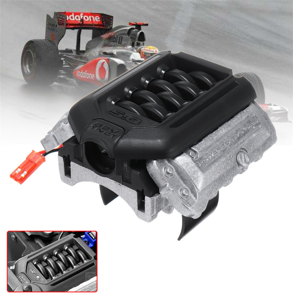 GRC Engine Simulated Radiator F11 V8 5.0 Motor Cooling Fan for 1/10 Traxxas TRX-4 TRX4 Rc Car Parts