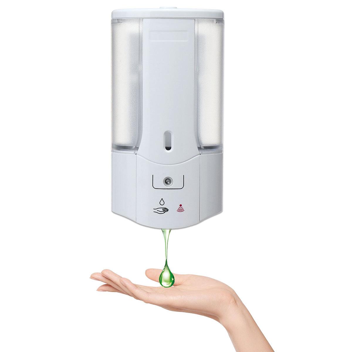 500ml Automatic Sensor Hand Free Soap Dispenser Shampoo Bathroom Wall Mounted Liquid Dispenser Sale Banggood Com