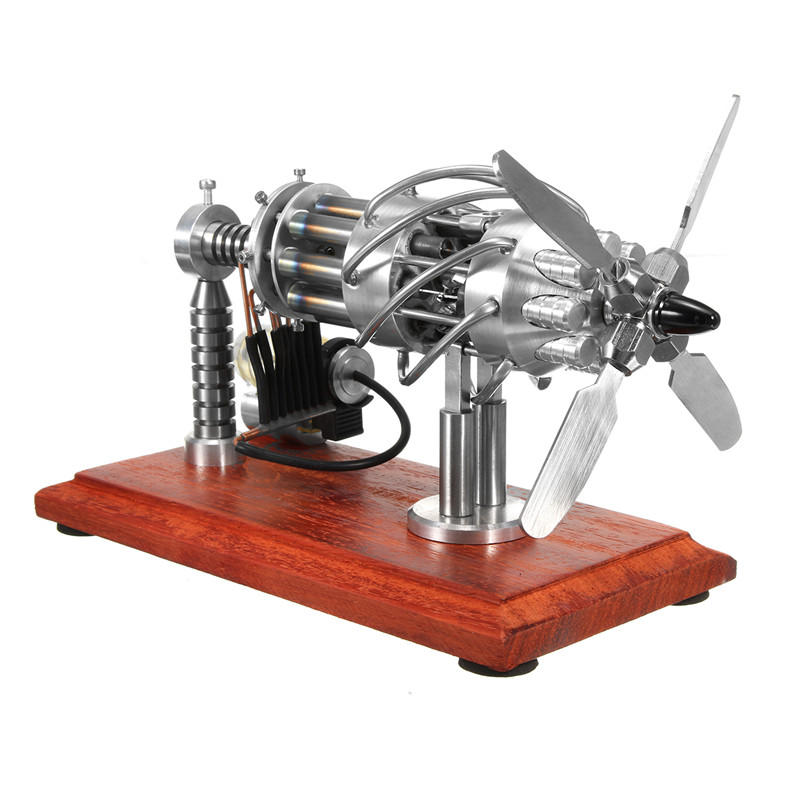 STARPOWER 16 Cylinder Hot Air Stirling Engine Motor Model Creative Motor Engine Toy Engine, Topacc  - buy with discount