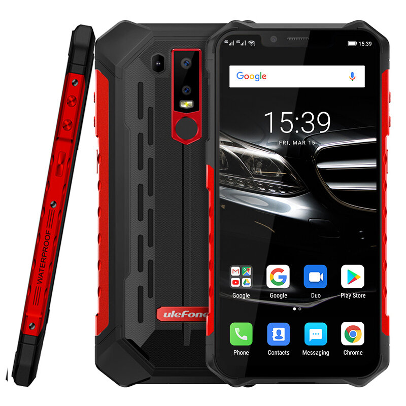 Ulefone ARMOR 6E NFC IP68 IP68K Waterproof 6.2 אינץ '5000mAh 4GB 64GB הליו P70 Octa Core 4G Smartphone