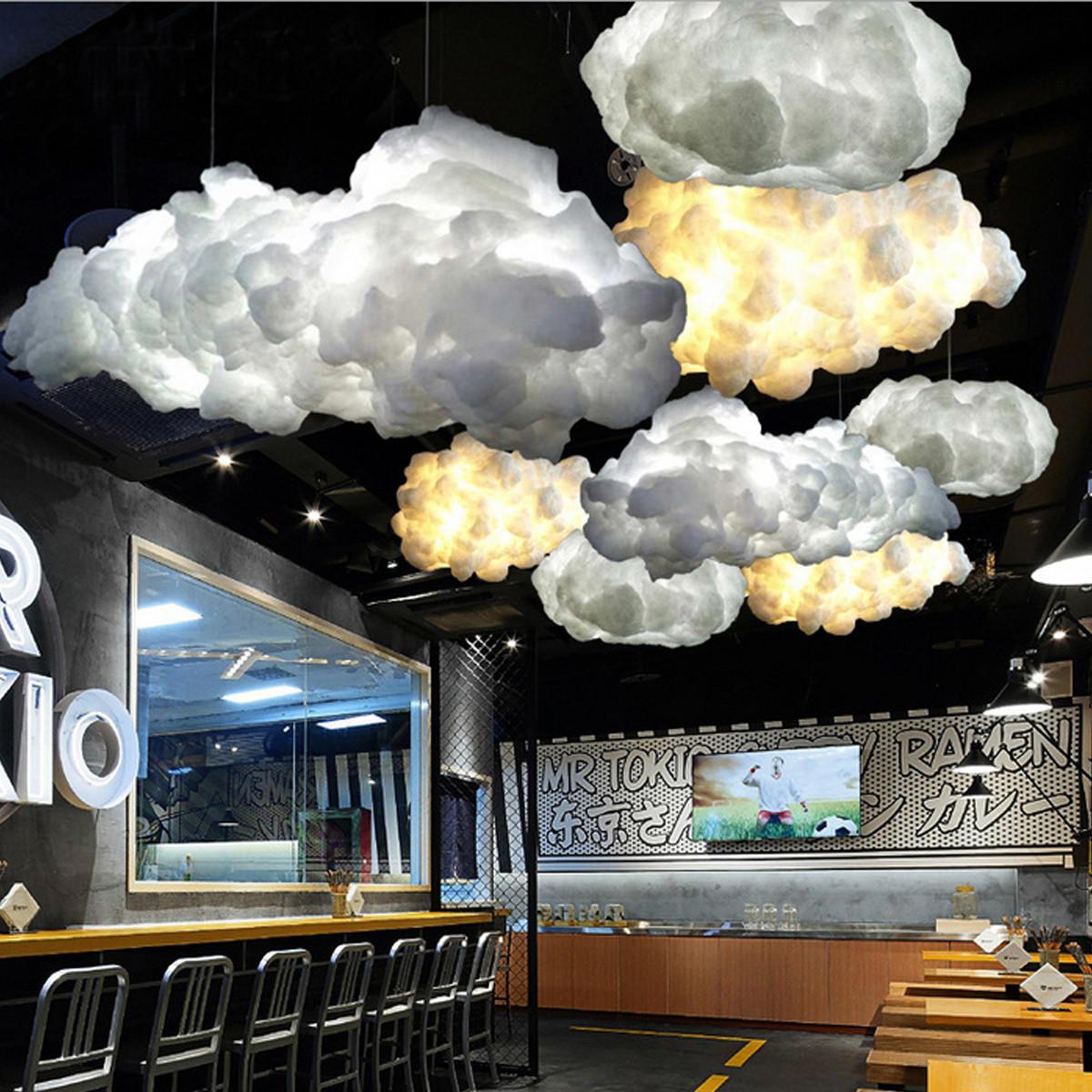 Biały Pływający Obłok światła Wisiorek Restauracja Bar Lampa Do Dekoracji Wnętrz Oświetlenie