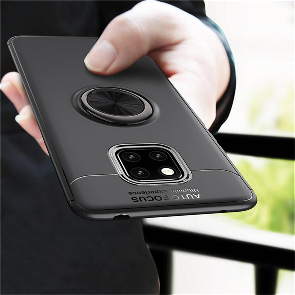 Bakeey™ Shockproof TPU Back Cover Protective Case with Finger Ring Holder for Huawei Mate 20 Pro