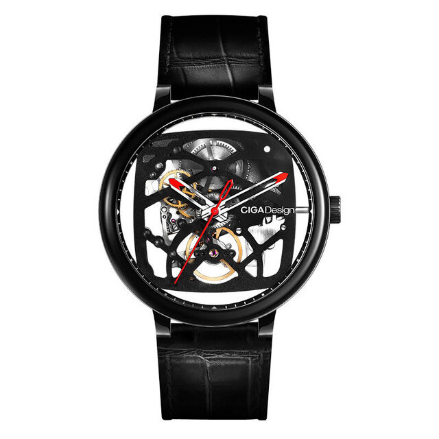 Original CIGA Design FangYuan Series Skeleton Creative Automatic Mechanical Watch Genuine Leather Strap Watch from Xiaomi Eco-System