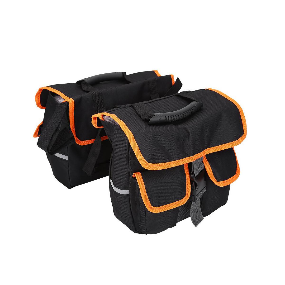 साइकिल बाइक मोटरसाइकिल सैडलबैग साइड पैनियर्स रियर रैक टेल सीट बैग पैक सामान