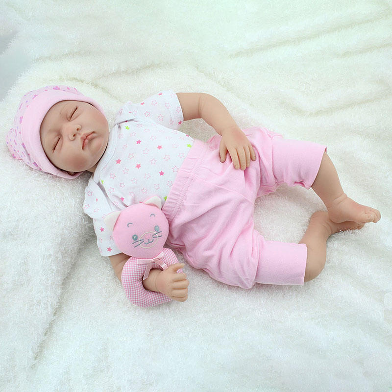 NPK 22inch Reborn Baby Doll Silicone Handgjorda levande Baby Play House Toy