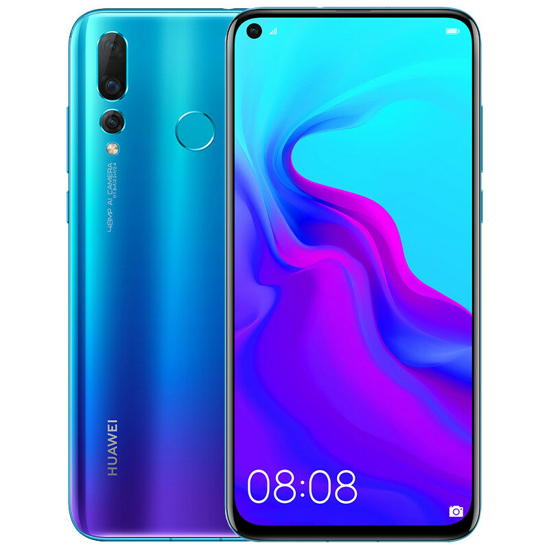 HUAWEI Nova 4 20MP Triple Rear Camera 6.4 inch 8GB 128GB Kirin 970 Octa core 4G Smartphone