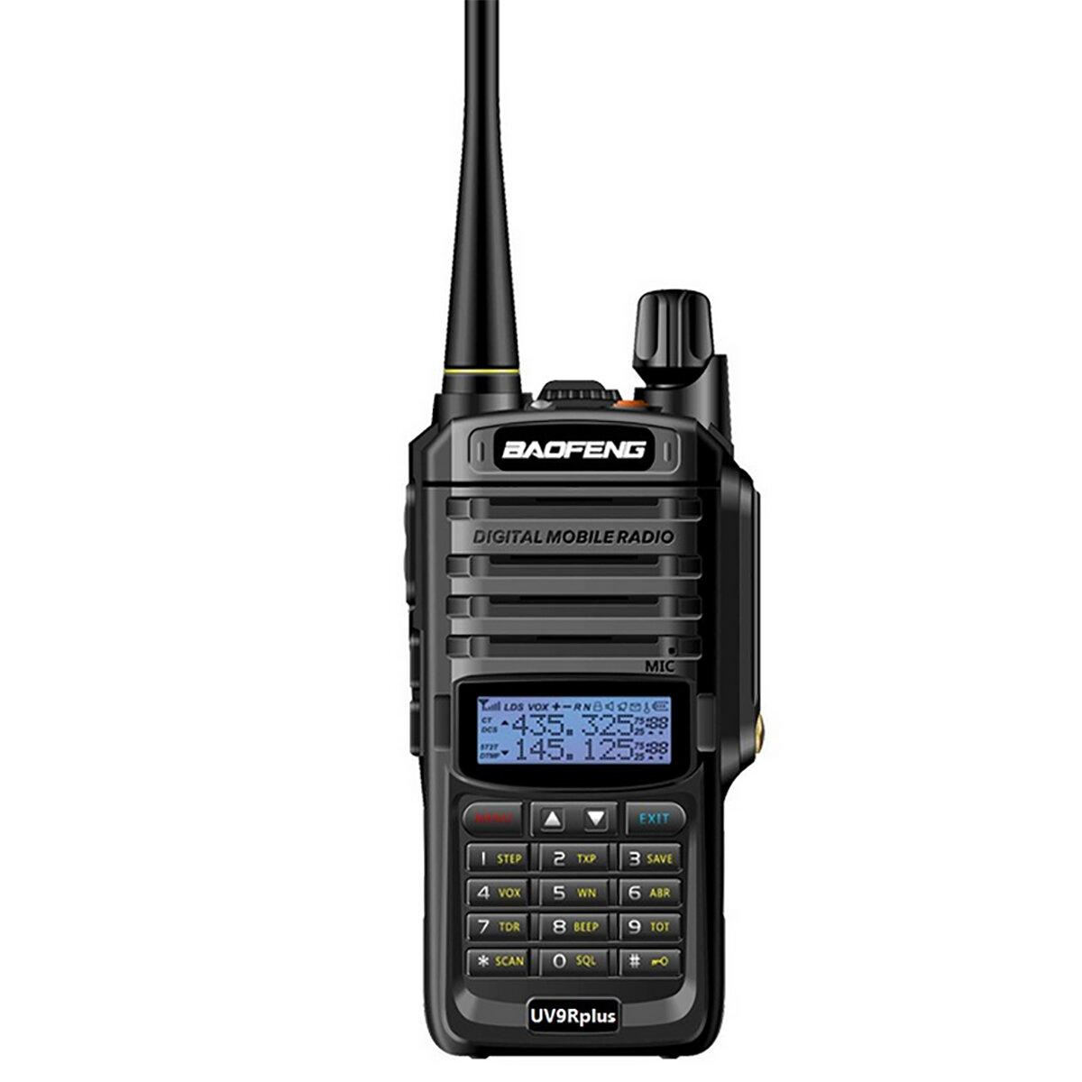 Baofeng UV-9R Plus 8W Versión de actualización bidireccional Radio VHF UHF Walkie Talkie para CB Ham AU Plug
