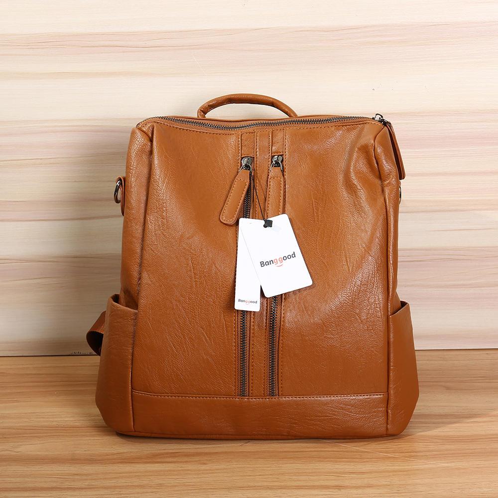 b5dc1663b01 Bang good Leather Backpack Travel Camping Handbag School Bag Shoulder Bag  Waterproof Rucksack