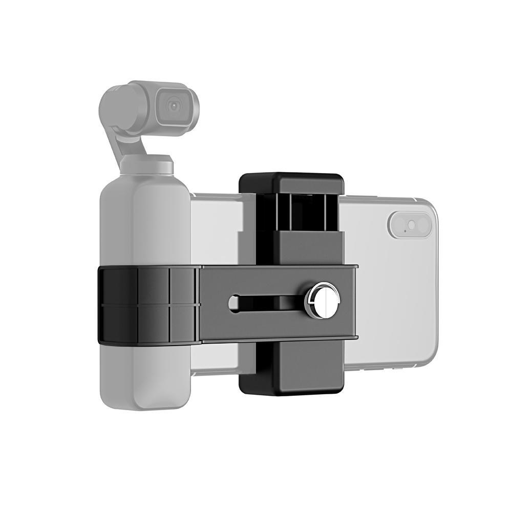 PULUZ PU379 Soporte para clip de teléfono Abrazadera Montaje para DJI OSMO Pocket Gimbal Sports Cámara