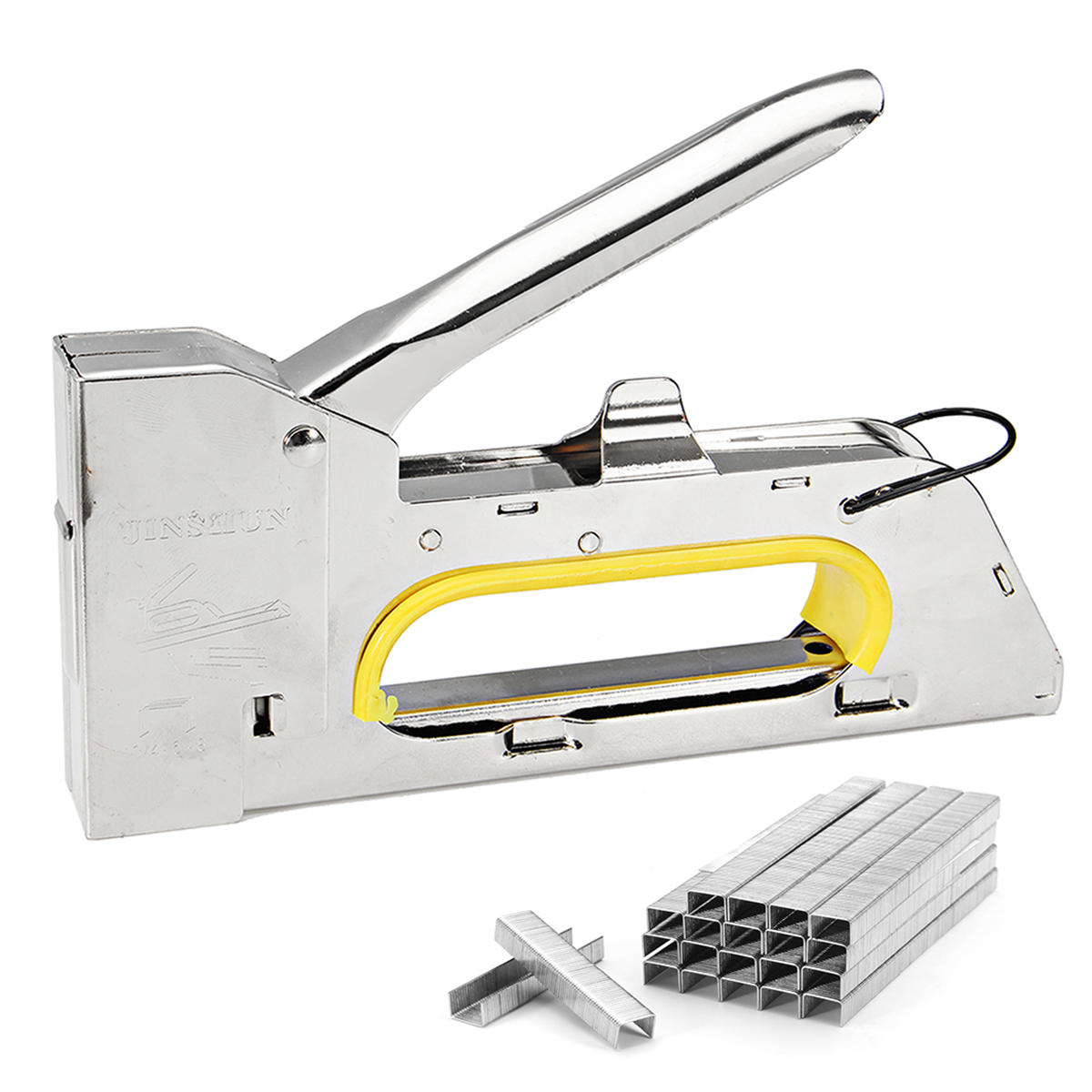 4 6 8mm Handy Heavy Duty Paper Furniture Staple Gun Tacker Stapler With 2400 Staples