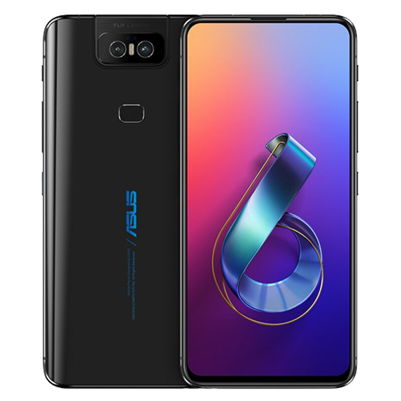 ASUS ZenFone 6 Global Version 6.4 Pollici FHD + 5000mAh 48MP + 13MP Telecamere flip 8 GB 256 GB Snapdragon 855 4G Smartphone