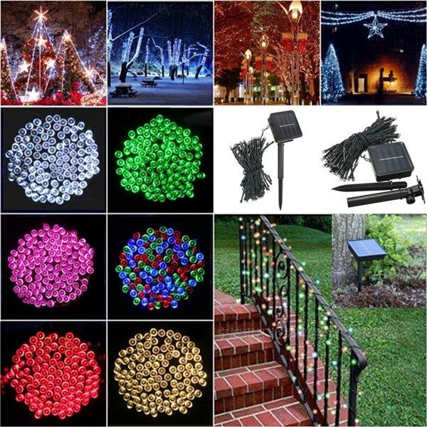 100 LED năng lượng mặt trời Fairy Fairy Light Light Party Party Giáng sinh