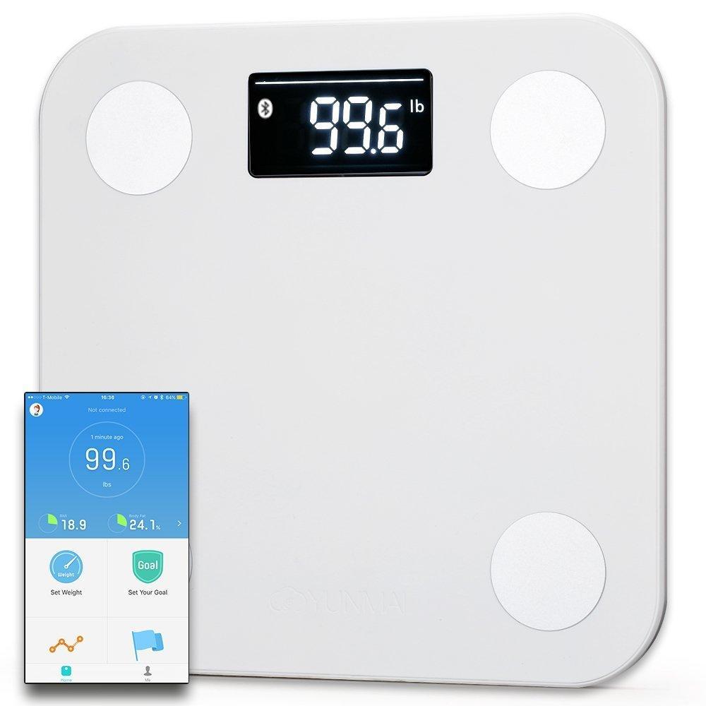 Yunmai Mini Smart Body Fat Scale Body Composition BMI Monitor 10 Body Data bluetooth Multi User App with Fitness Scheme