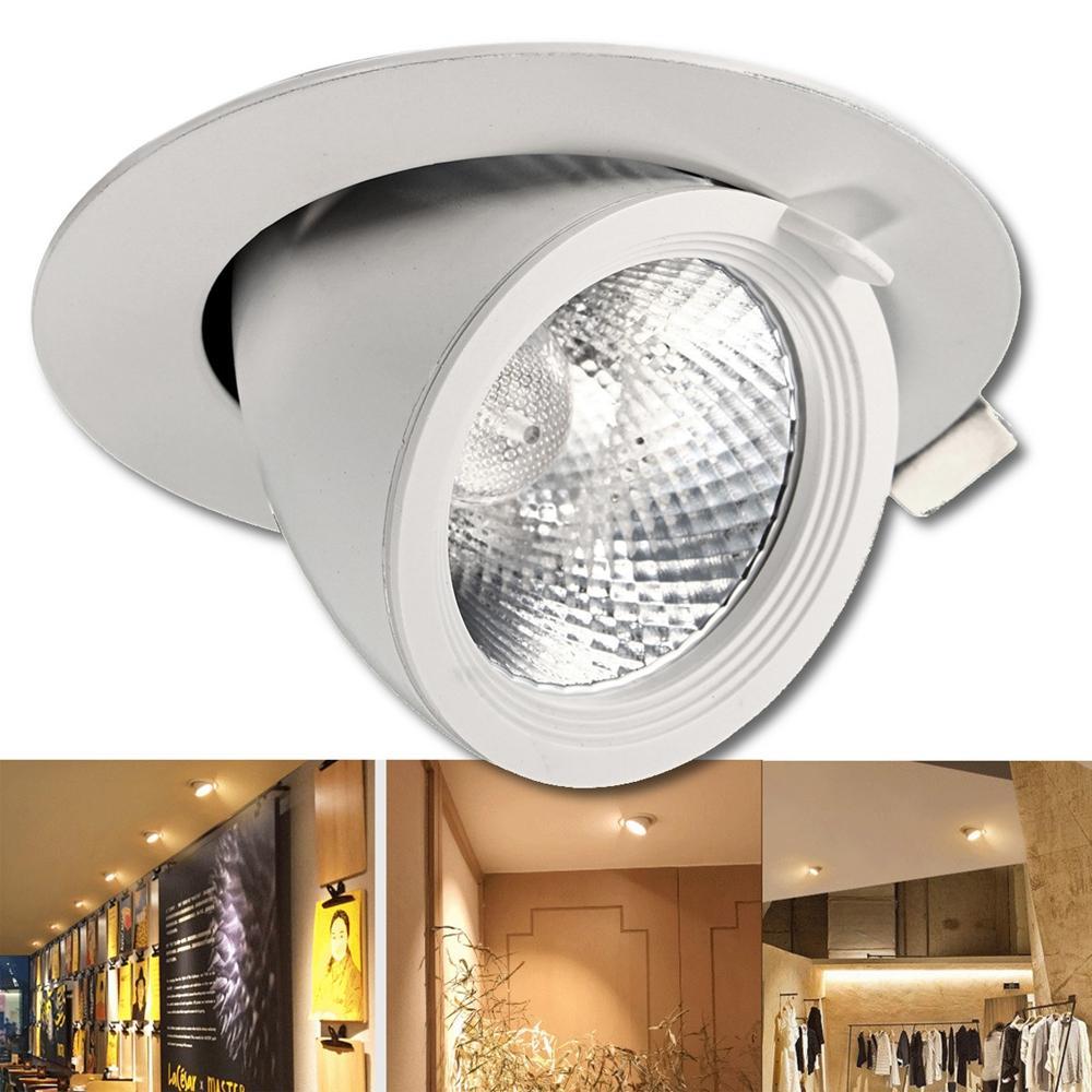 5w 7w 12w 15w 20w 30w Led Cob Dimmable Ceiling Lamp Dowm Light Adjustable Spotlight Flush Mount Fixture