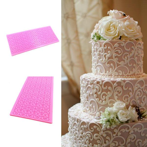 El pastel de la silicona del cordón moldea el instrumento de decoración del moho de la letra de la pasta de azúcar
