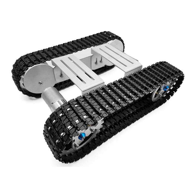 DIY Aluminium Alloy RC Robot Chassis Tank Car With Crawler Kit Set