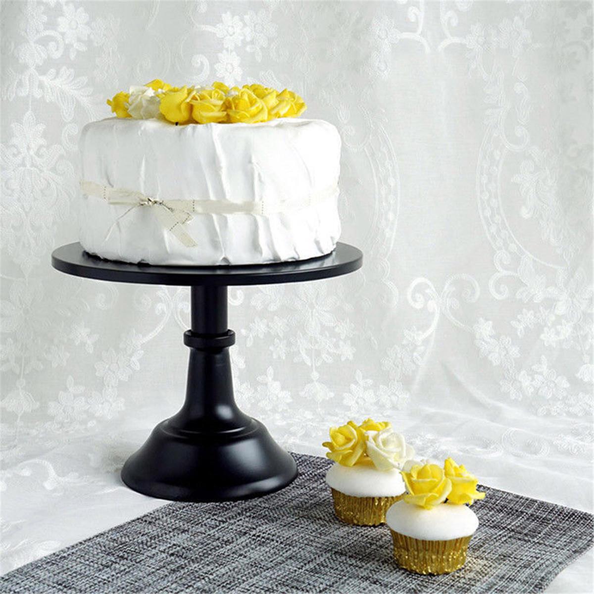 10 Inch Iron Round Cake Stand Pedestal Dessert Holder Display Wedding Party Decorations