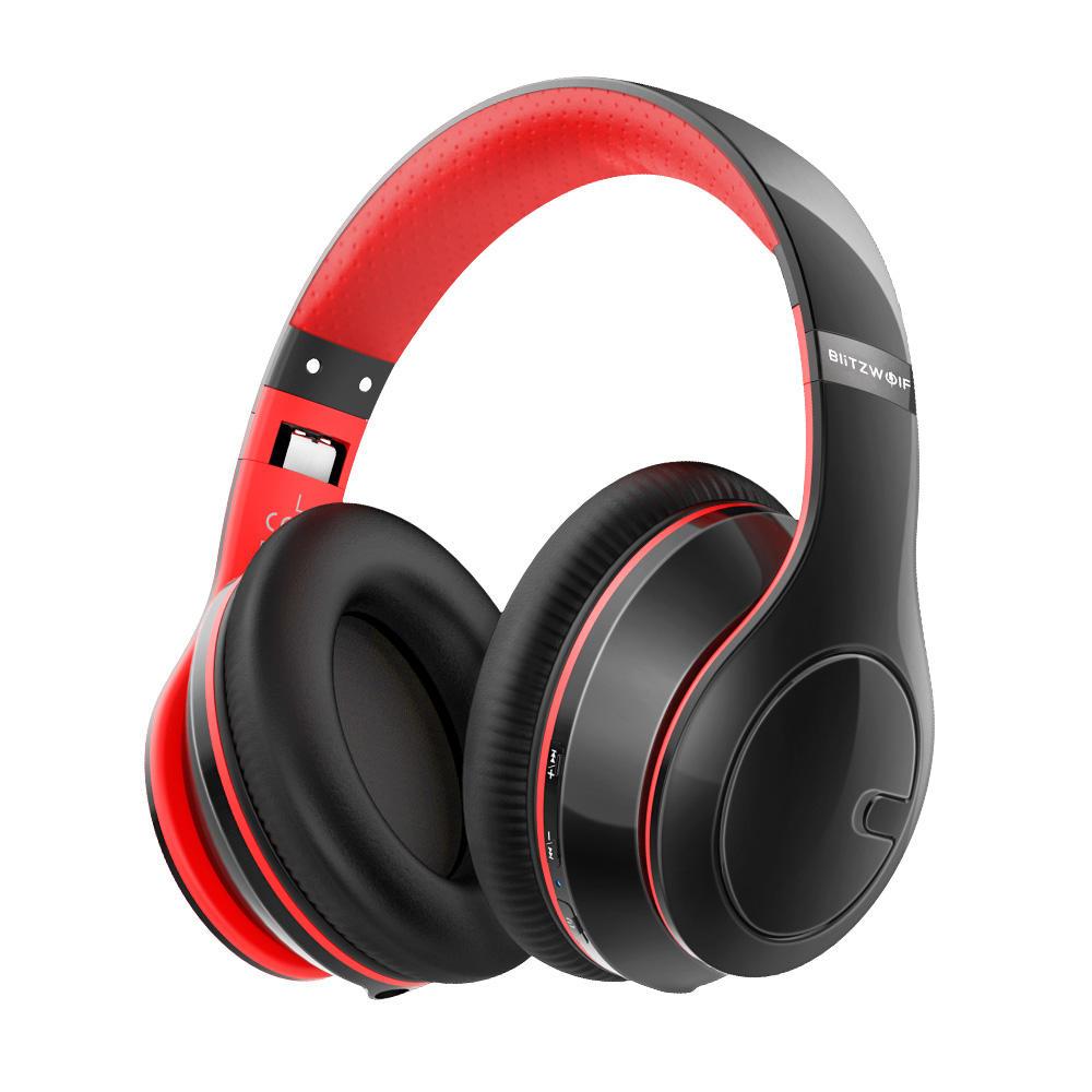 BlitzWolf® BW-HP1 Wireless bluetooth Headphones Foldable Stereo Over Ear Headphone Headset  with Mic