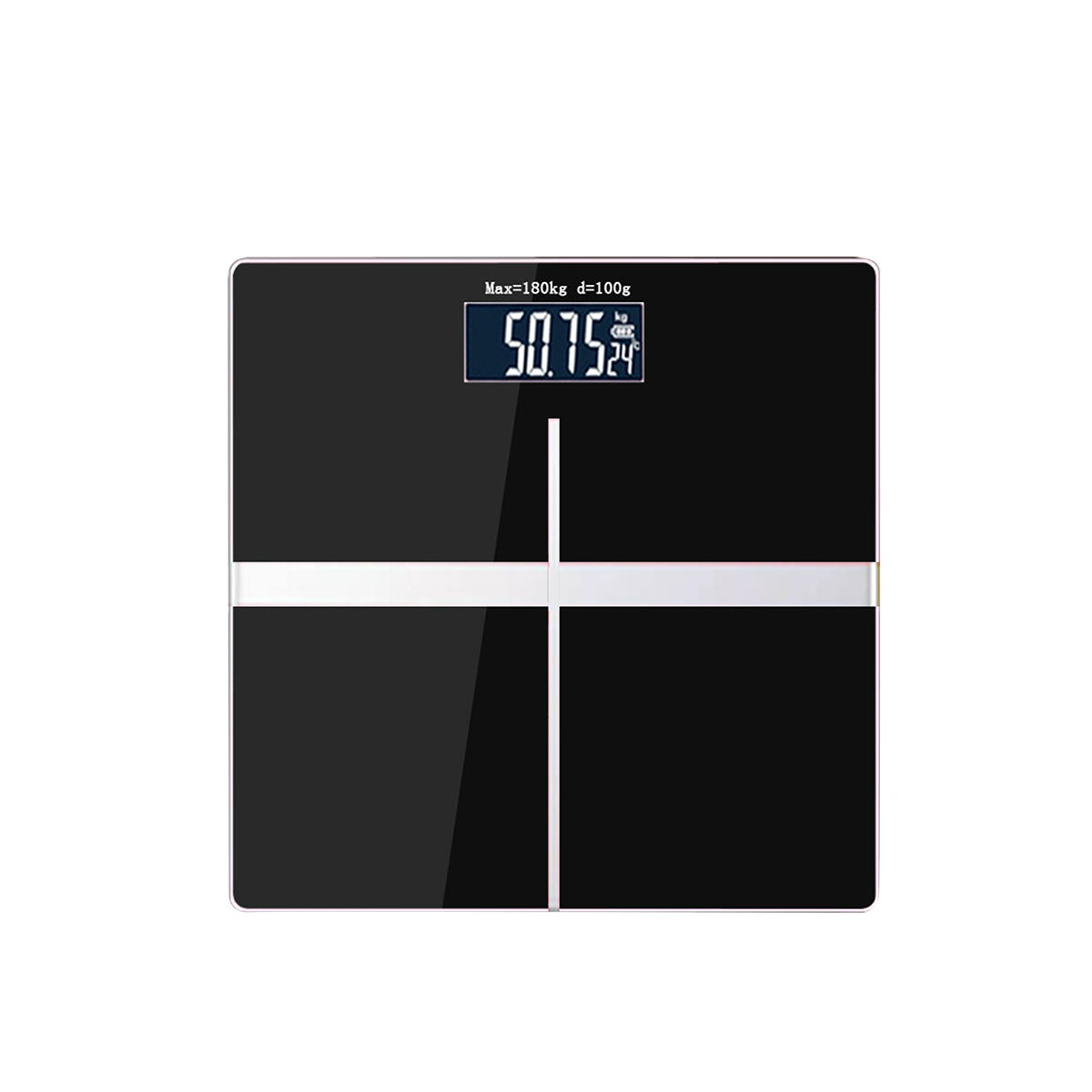 AUGIENB Electronic Weight Scale Square Black Electronic Scale Body Household Weight Scale Convenient Health Scale