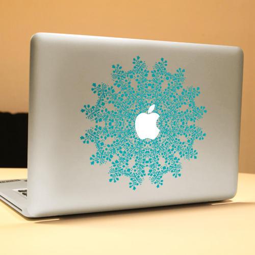 PAG Blomstring Dekorativ Laptop Dekal Avtakbar Boblefri Selvklebende Hud Klistremerke