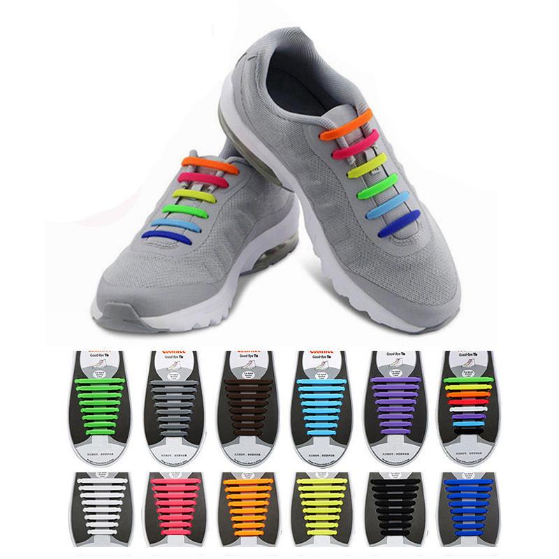 Honana HN-4221 No Tie Shoelaces Multicolor Shoelaces Elastic Silicone Footwear