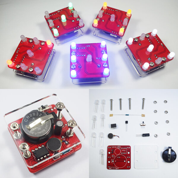 Geekcreit® DIY Shaking LED Dice Kit With Small Vibration Motor