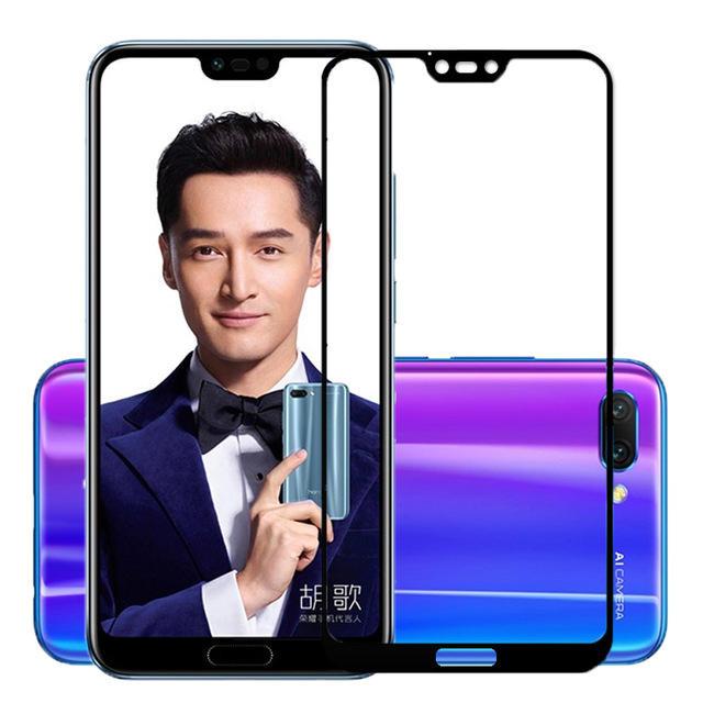 Huawei Honor 10 के लिए बाकी एंटी-धमाका फुल कवर टेम्पर्ड ग्लास स्क्रीन रक्षक