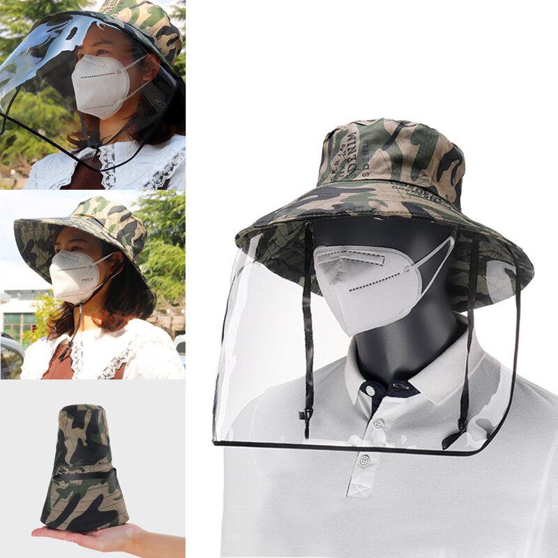 Removable Transparent Protective Mask Hat Anti-fog Splash Proof Fisherman Bucket Hat, Banggood  - buy with discount