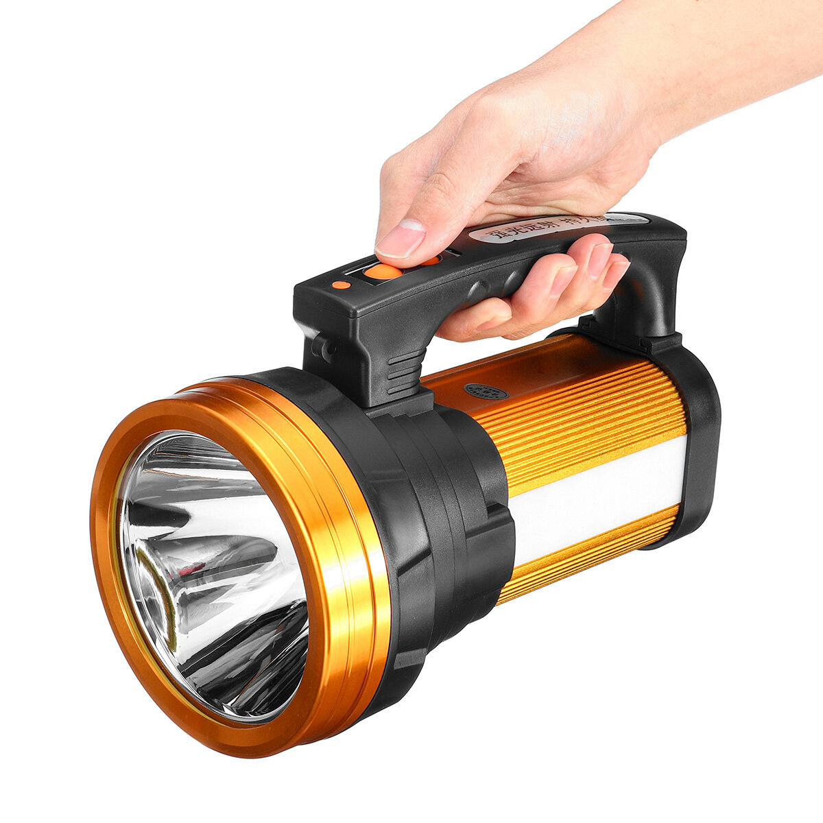 500W 3000LM 1000m Range LED USB Work Light Waterproof Hand Searchlight Flashlight Lamp Torch Emergency Lantern Outdoor Camping