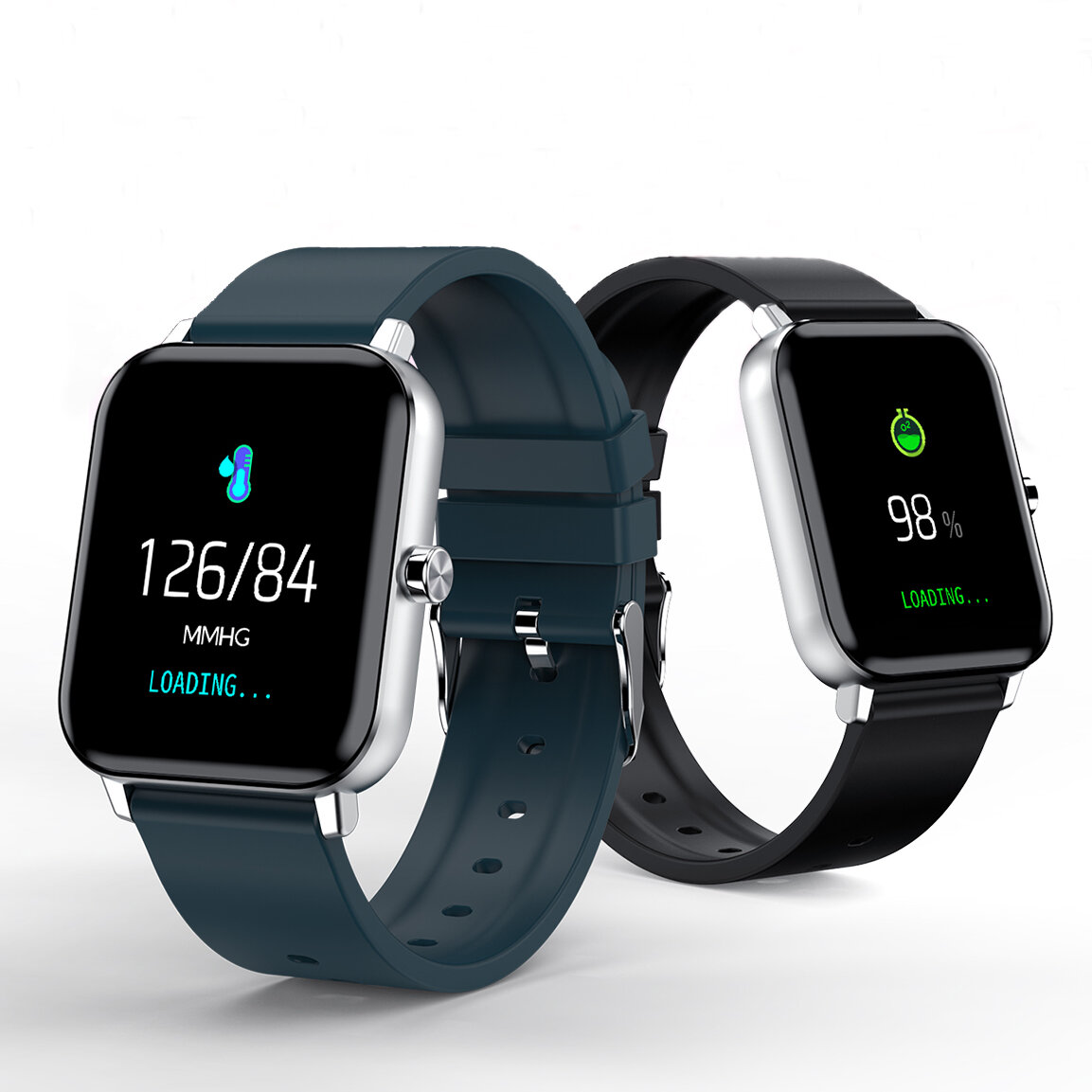 CORN WB01 Full Touch Screen Heart Rate Blood Pressure Oxygen Monitor Breathe Training Weather Forecast 60 Days Standby IP68 Smart Watch