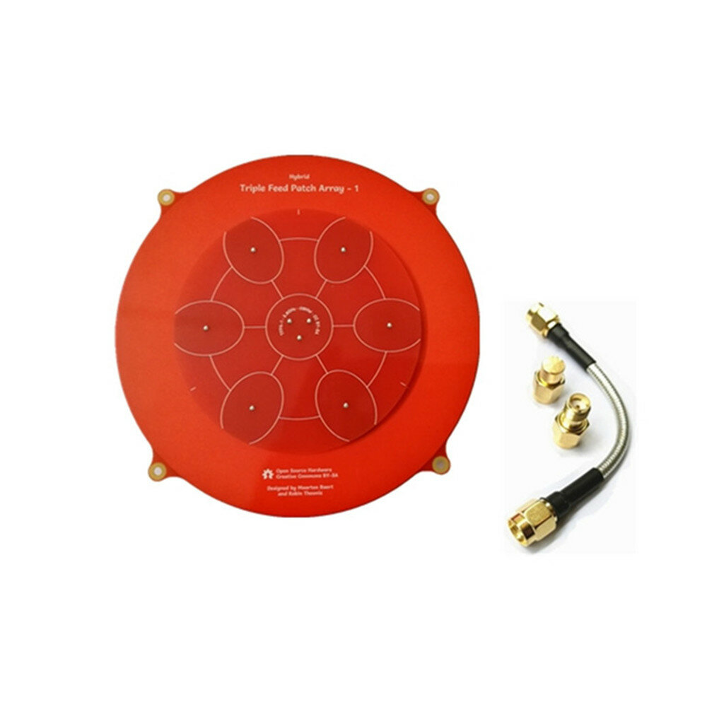 Parche de alimentación triple de 150mm Pagoda Array Antena FPV de 5.8GHz 14dBi para RC Drone