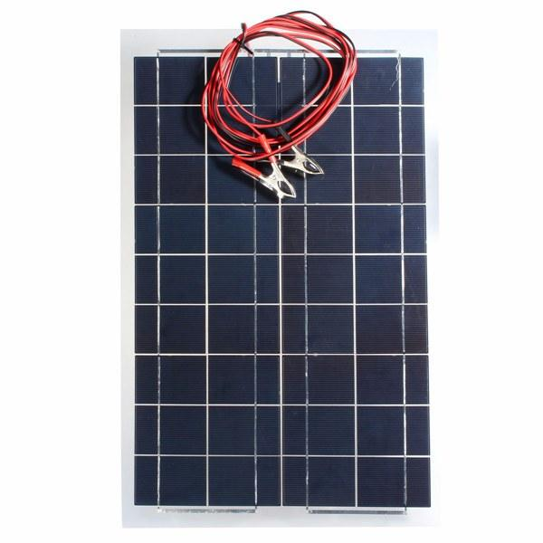 30W 12V Semi Flexible Solar Panel Device Battery Charger
