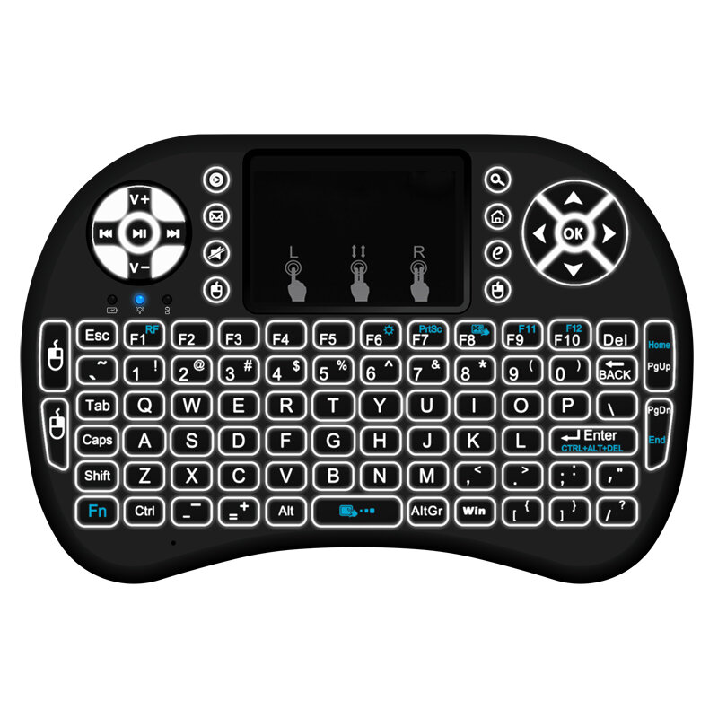 1ca568400a2 MINI I8 Wireless Backlit 2.4GHz Touchpad Keyboard Air Mouse For TV Box MINI  PC COD