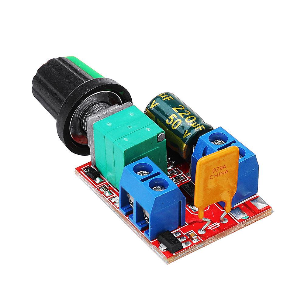 1DC 3V To DC 35V 5A 90W Mini DC Motor PWM Speed Controller Module Speed Regulator Adjustable Li, Banggood  - buy with discount