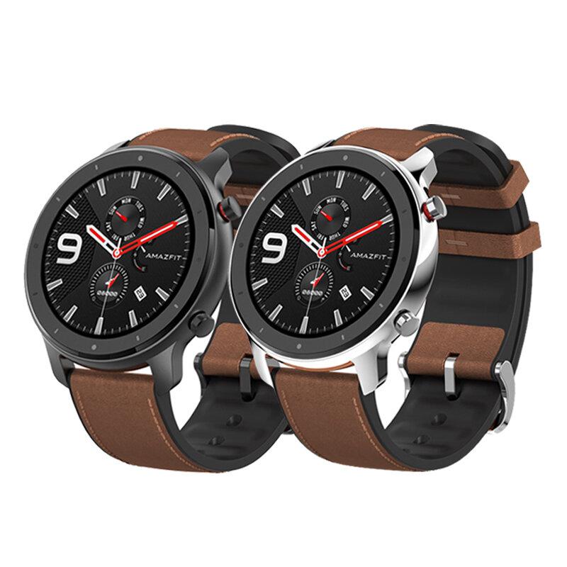 Amazfit GTR 47MM AMOLED Smart Watch GPS+GLONASS 12 Sports Mode 5ATM Wristband International Version from xiaomi Eco-System