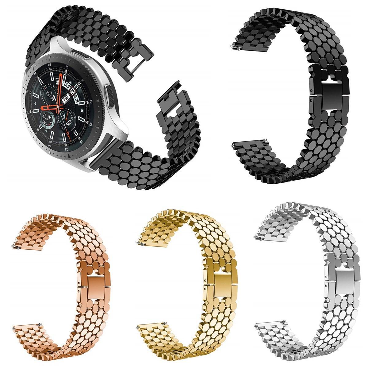 """48 מ""""מ סגסוגת פלדה נירוסטה רצועת רצועת רצועה עבור Samsung גלקסי Watch Watch חכם"""