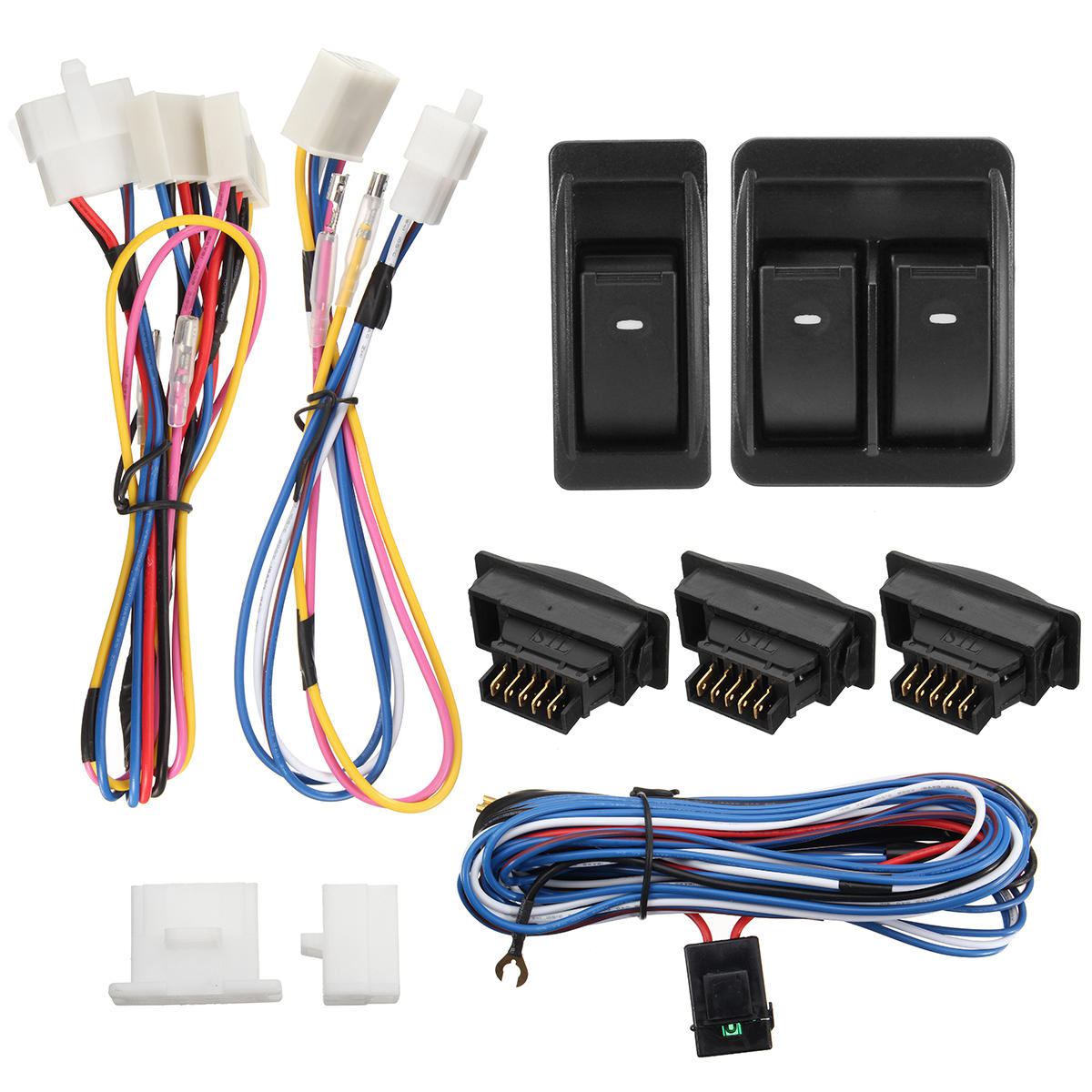 12v vehicle off-road power door window switch with wiring harness cod