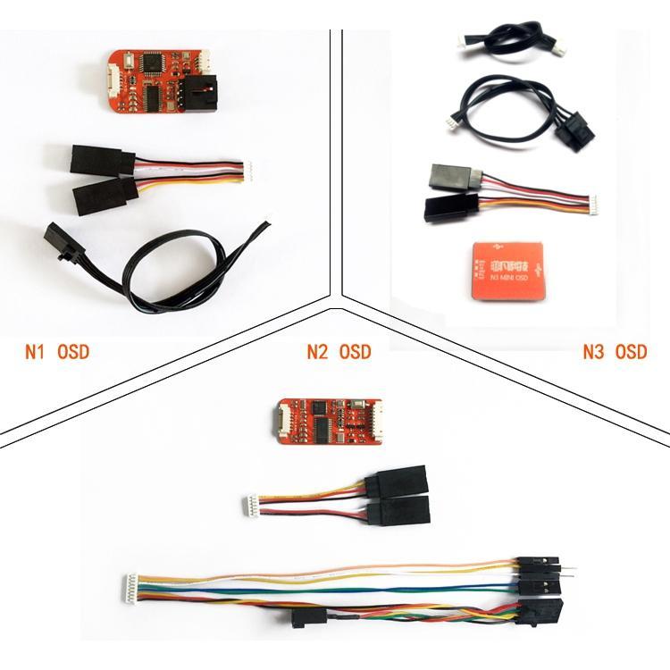 FPV N1/N2/N3 Mini OSD for DJI Flight Controller Phantom 2 NAZA V1 V2 Lite Remzibi GPS For RC Drone