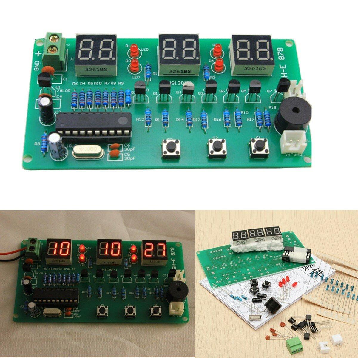5V  -  12V AT89C2051多機能6デジタルLED DIY電子時計キット