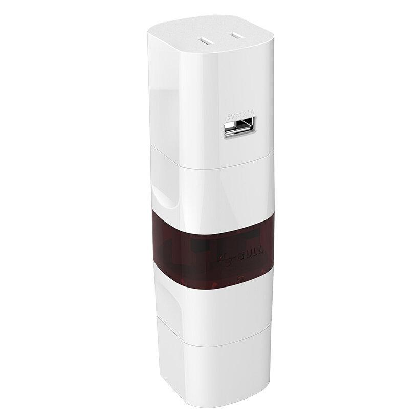 BULL GN-L07U Smart Portable Multiple Countries USB Port Safe Travel Converter Strömadapter